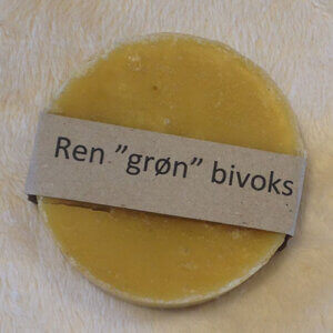 "Ren ""grøn"" bivoks 100gram"